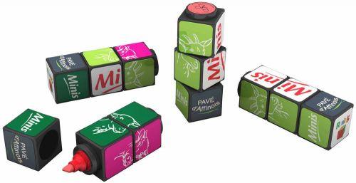 Original Rubiks Textmarker 1er als Werbeartikel