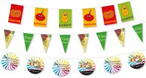 Fahnenketten aus Spezialpapier, 4-farbig als Werbeartikel