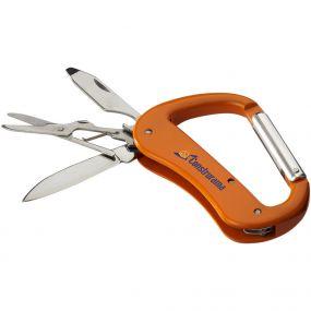 Canyon Karabiner Taschenmesser mit 5 Funktionen als Werbeartikel