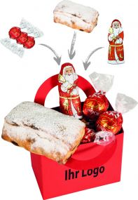 Präsentset Schicke Weihnachtstüte als Werbeartikel