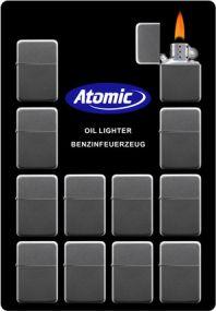 Benzinfeuerzeug Atomic Z-16 als Werbeartikel