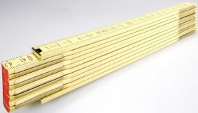 Holz-Gliedermaßstab Serie 600 2m als Werbeartikel