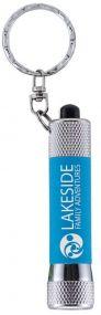 Soft Touch Taschenlampe McQueen mit Lasergravur als Werbeartikel