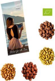 Würzige Bio Nüsse 30g als Werbeartikel