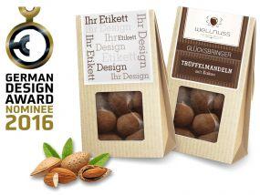 Premium Snacks Mini Faltschachtel als Werbeartikel