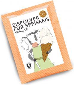 Eispulver Vanille im Portionsbeutel als Werbeartikel