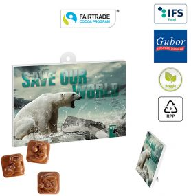 A5-Schoko-Adventskalender BUSINESS Fairtrade als Werbeartikel