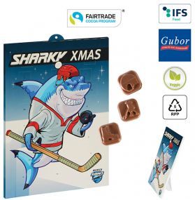 Eishockey-Schoko-Adventskalender Fairtrade als Werbeartikel