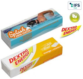 DEXTRO ENERGY Stange - Orange + Vitamin C als Werbeartikel