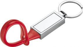 CLOVE Schlüsselanhänger aus Metall und PVC in einer Geschenkbox als Werbeartikel