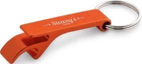 BAIT Schlüsselanhänger aus Aluminium mit Flaschenöffner. Erhältlich in verschiedenen farben als Werbeartikel