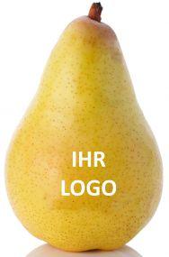 Birne mit Logo als Werbeartikel