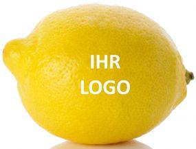 Zitrone mit Logo als Werbeartikel