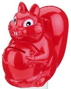 Spardose Eichhörchen mit Nuss als Werbeartikel
