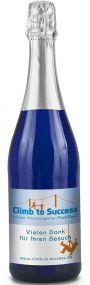 Sekt Cuvée Flasche blau als Werbeartikel