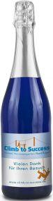 Sekt Riesling Flasche blau als Werbeartikel