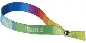 Evi komplett farbiges Festival-Armband als Werbeartikel