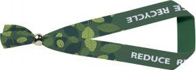 Festival Armband Evi mit Metallverschluss aus recyceltem PET als Werbeartikel