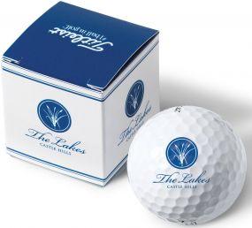 Titleist 1er Ballverpackung inkl. 4c-Werbedruck als Werbeartikel