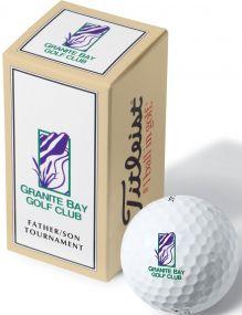 Titleist 2er Ballverpackung inkl. 4c-Werbedruck als Werbeartikel