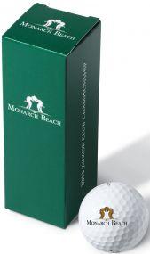 Titleist 3er Ballverpackung inkl. 4c-Werbedruck als Werbeartikel