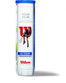 Wilson Tour Club Tennisbälle in 4-Ball-Tube als Werbeartikel