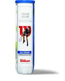 Wilson Tour Club Tennisbälle in 4-Ball-Tube als Werbeartikel