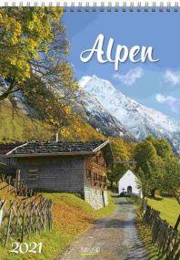 Faltkalender Alpen als Werbeartikel