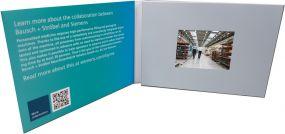 """Klappkarte mit integriertem HD- und IPS Farbmonitor """"VIDEOcard mit 3 Zoll HD & IPS"""" als Werbeartikel"""