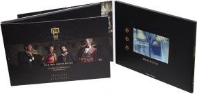 """Klappkarte mit integriertem HD-Farbmonitor""""VIDEOcard mit 5 Zoll HD-Display"""" als Werbeartikel"""