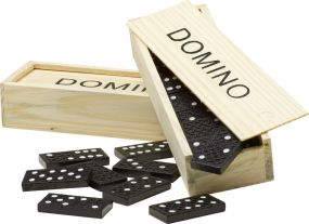 Domino-Spiel Mio in Holzbox als Werbeartikel