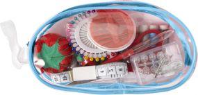 Nähset All in one in transparenter PVC-Tasche als Werbeartikel