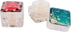 Lippenpflege im clearen Kubus Lipcare Cube als Werbeartikel