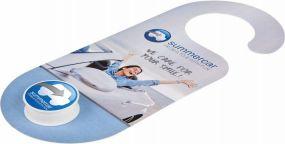 Lippenpflege im Döschen mit Hänge-Karte LipJar als Werbeartikel