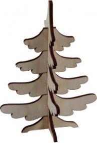 3D Holzpuzzle Tannenbaum mit Laserung als Werbeartikel