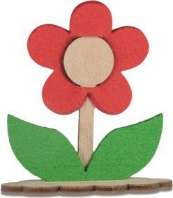 Steckfigur Blume mit Karte Digitaldruck 4/0c u. Laser als Werbeartikel