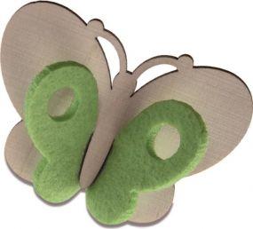 Steckfigur Schmetterling m. Karte 4c-Druck Gravur als Werbeartikel