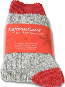 Lenchens Socken in Banderole als Werbeartikel