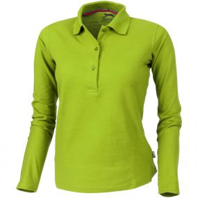 Point Damen Langarm Poloshirt