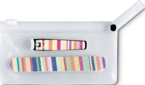 Manikür Set in PVC Tasche als Werbeartikel