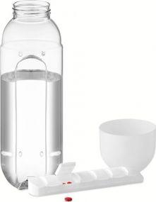 Trinkflasche mit Pillendosierer als Werbeartikel