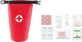 Erste-Hilfe-Set in Rollverschlusstasche als Werbeartikel