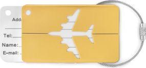 Kofferanhänger aus Aluminium als Werbeartikel