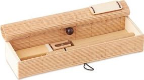 Bambus Schreib-Set 7-teilig als Werbeartikel