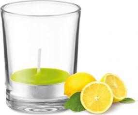 Teelichthalter mit Duft-Teelicht als Werbeartikel