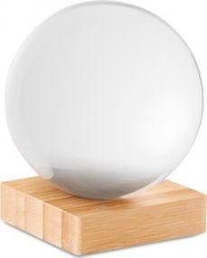 Glaskugel auf Bambussockel als Werbeartikel