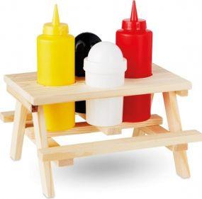 Gewürzhalter Picknicktisch als Werbeartikel