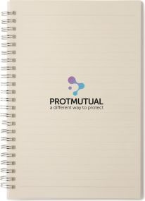 Antibakterielles A5 Notizbuch Cleanbook als Werbeartikel