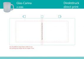 Glasbecher Carina satiniert als Werbeartikel