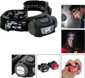 Stirnleuchte umschaltbar 1 CREE LED / 3 LED Front Power als Werbeartikel